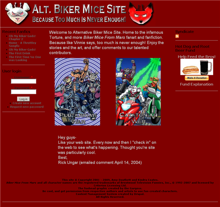 Alt. Biker Mice Site